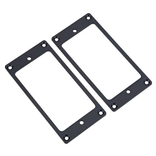 2 bridge frame parts, metal cover by Humbucker Pickup, spare part for guitar (black)