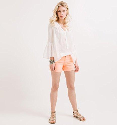 Promod Short en toile Femme Orange fluo
