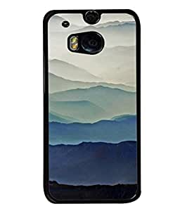 PrintVisa Designer Back Case Cover for HTC One M8 :: HTC M8 :: HTC One M8 Eye :: HTC One M8 Dual Sim :: HTC One M8s (blue suits your personality gray compliments)