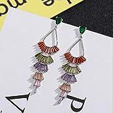 YOYOYAYA S 925 Sterling Silber Ohrringe Damen Accessoires Mädchen Delikatesse Cute Fransen Ohrstecker Ohrhänger Wasser Tropfen Parteien Blumen