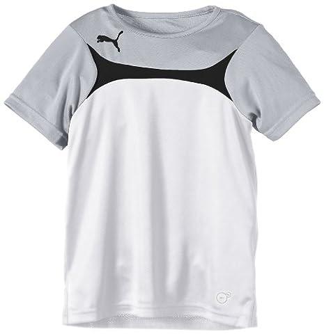 Puma T-Shirt Garçon Blanc FR : 14 ans (Taille Fabricant : 164)