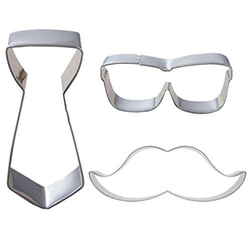yujiao-mao-stainless-steel-cookie-cutters-mens-necktie-sunglasses-beard-shape-baking-tools
