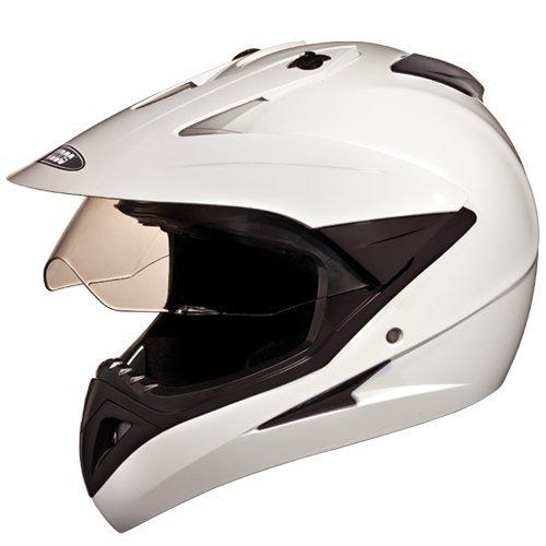 Studds Motocross Helmet with Visor (White, M)