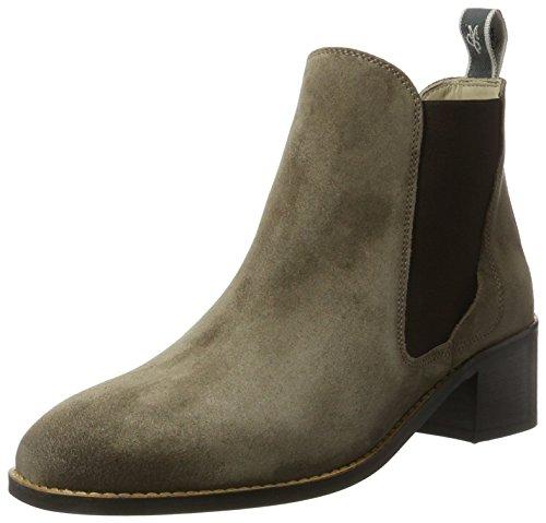 Marc O'Polo Damen Mid Heel 70714165101304 Chelsea Boots, Braun (Taupe), 38 EU