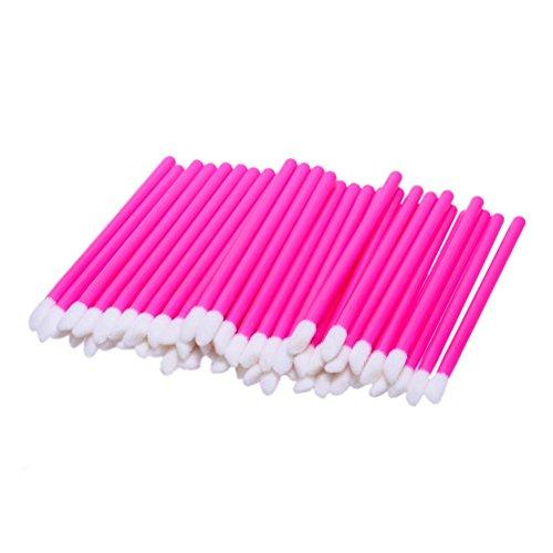 Lippenbürste, HARRYSTORE 50PC Frauen Einweg-Lippenpinsel Glanzstäbe bilden Werkzeug (Heiß Rot)