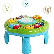 Musikalische Aktivität Tisch Baby Spielzeug - Beby New Design BN16014 Lachen & Spaß Elektronische pädagogische Kleinkinder Spielzeug für 6 Monate + Baby Kinder Kinder Grüne Farbe (Grün)