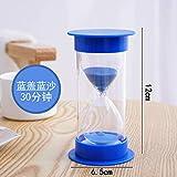 SER ITYHTR Dekoration Hourglass Timer Kind Herbst Zeit 30/60 Minuten Kleine Dekoration Creative Home Decorations Geburtstagsgeschenk Blue Cover Blue Sand -30 Minuten