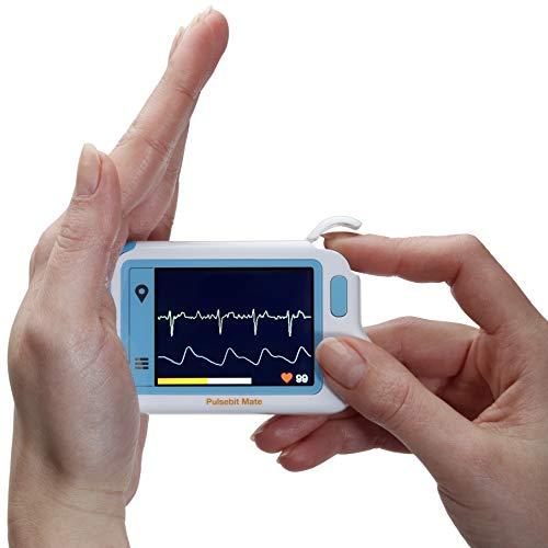 MedX5 Herzfrequenzmesser, EKG Gerät für Privat und Praxen, Farbdisplay mit deutscher Menüführung und deutscher Anleitung, Interner Speicher