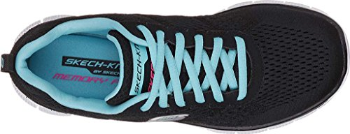 Skechers - Flex Appeal First Glance, Sneakers da donna Black/Blue
