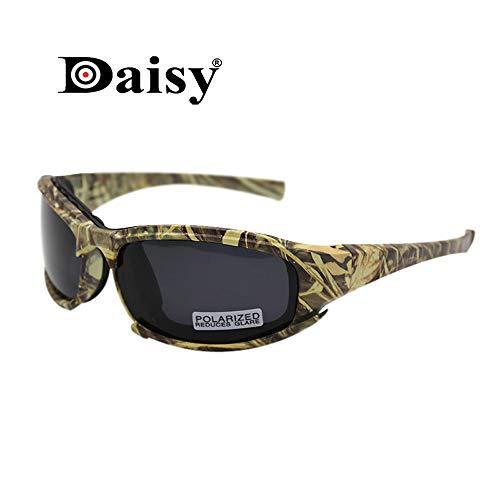 EnzoDate Polarisierte Daisy X7 Armee Sonnenbrille, militärische Brille 4 Objektiv Kit Taktische Schutzbrille (Camouflage, 1 Objektiv Polarized (von 4))