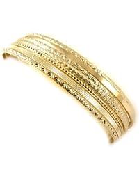 Altesse [L0957] - Bracelet plaqué or 'Semainier' - 6 cm 7 rangs