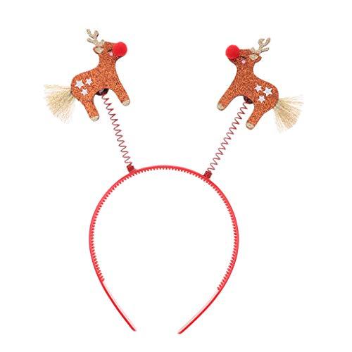 sharprepublic Weihnachten Hirsch Stirnband Haarband Maskerade Party Kostüm Kopfschmuck - Haarreifen