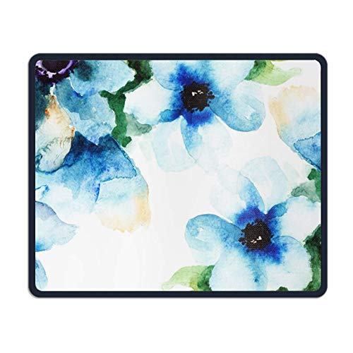 meniony Watercolor Flower Tattoo Funny Design Personalized Rectangle Mouse Pad (Colorful Flower Tattoos)