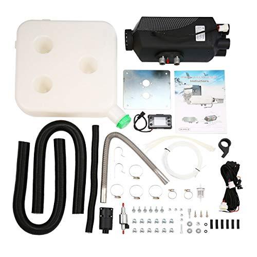 Diesel Lufterhitzer, 12V 5000W Air Standheizung Kit LCD Schalter Fahrzeug Air Diesel Heizung, für Autos LKWs Yachten Boote Wohnmobile, schwarz