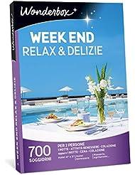 WONDERBOX Cofanetto Regalo per Coppia - Week End Relax & DELIZIE - 700 SOGGIORNI per 2 Persone