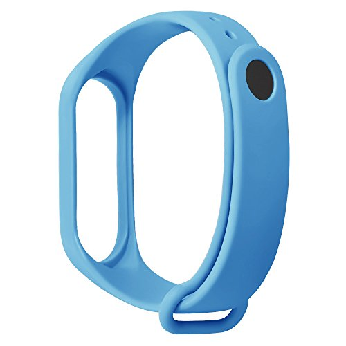 YBWZH Sport-weiches TPE-Silikon-Ersatz-Armband-Handgelenk-Bügel für Xiao Mi Band 3(Sky Blau) (Pebble-uhr-ersatz-akku)