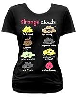 Goodie Two Sleeves Strange Clouds Womens Tshirt Black Funny
