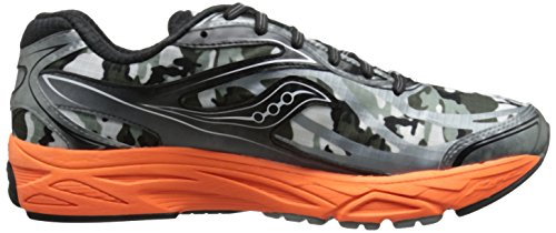 Saucony Ride 8 Gtx, Entraînement de course homme Multicolore (Grey/Black/Orangepa)