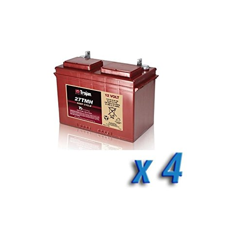 Akku 48V Photovoltaik-Accumulation 27TMH 4 x 115 Ah Batterien 12V Trojan