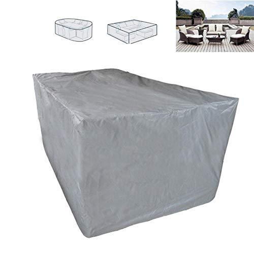 Zexa rechteckige Tischabdeckung, 210D Polyester Wasserdichte Gartenmöbelbezüge 6 Sitz Tischabdeckung im Freien, atmungsaktiv, Winddicht -