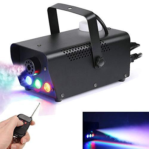 Macchina della Nebbia, Sararoom 500W RGB Macchine del Fumo Portatile LED Fogger Con Telecomando Senza Fili Per Bar Palco DJ Discoteca Anniversary Party