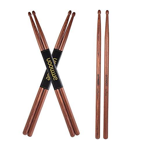 ammoon Drumsticks 5A Mahagoniholz 3 Paar Zubehör für Schlagzeug Sets
