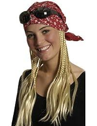 Kopftuch mit angesetzten blonden Haaren