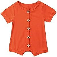 Ropa Bebe niña de 0 a 3 Meses Invierno,(6-24M) Infantil Bebé y Bebé Femenino de Manga Corta de Color Sólido Botón Hare Jumpsuit,