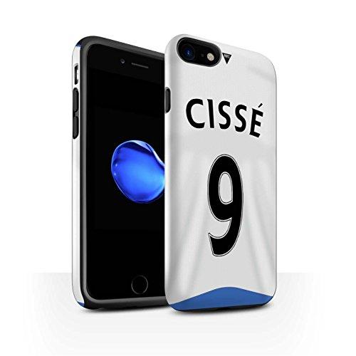 Officiel Newcastle United FC Coque / Brillant Robuste Antichoc Etui pour Apple iPhone 7 / Tioté Design / NUFC Maillot Domicile 15/16 Collection Cissé