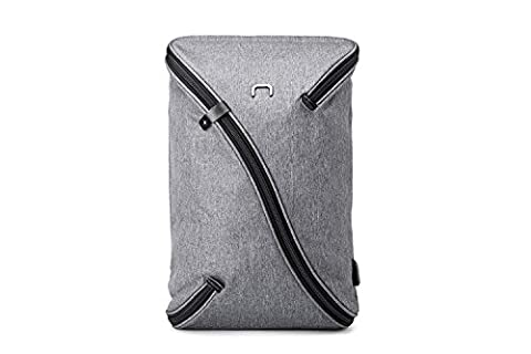 NIID-UNO I Water Repellent Slim Ordinateur Portable Sac à dos Interchangeable avec Port de charge USB Rucksack Compatible avec un ordinateur de 15.6 Pouces (Sac à dos (Gris) + Standard Panneau)