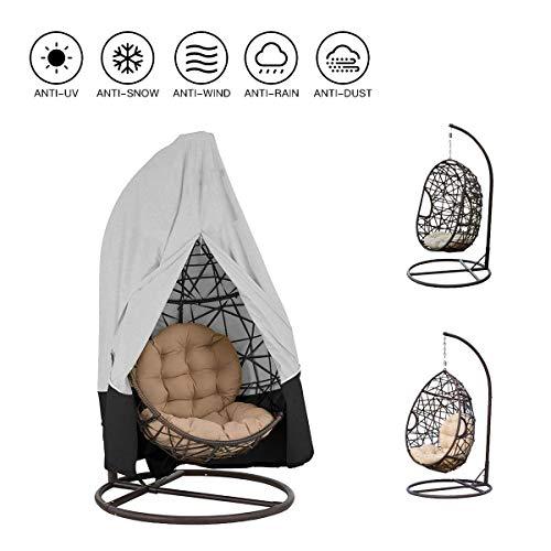 SUNDUXY Schwebesessel Abdeckhauben, Durable Lightweight Waterproof Patio Chair Cover mit Reißverschluss, Egg Swing Chair Staubschutzhülle,115x190cm
