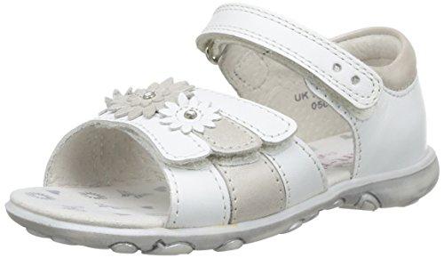 Start Rite - Clover, sandali  per bambine e ragazze, Bianco (White (White/Silver)), 24