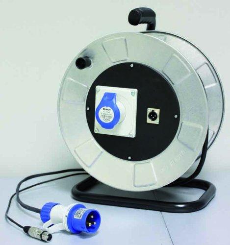 BESPECO Cavo professionale PHONO-RETE con avvolgicavo metallico 20 mt CPHROL20