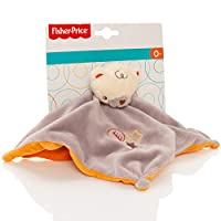Fisher Price Baby 2 Tone Soft Bear Comforter With Rattle - Comfort Security Blanket