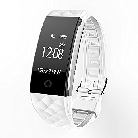 KKmoon Smartwatch Montre Intelligent Bluetooth S2 Ecran Tactile pour Android 4.3 Samsung S6 S7 edge IOS iPhone 6/6S/6 Plus/6S Plus/7 Plus