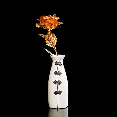 decorazioni per la casa/[decorazione]/Vaso in ceramica di simulazione dell'oro delle Rose/insieme/ contenitore di regalo regalo regalo-C