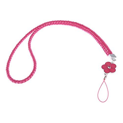 and Schlüsselanhänger ID Abzeichen Handy MP3 MP4 Halter Handgelenkgurte - Rose Rot ()