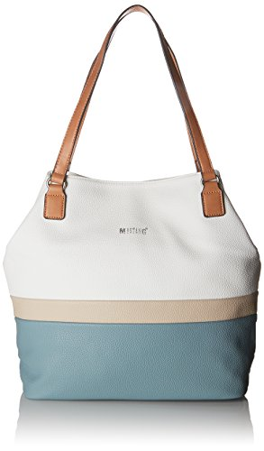 MUSTANG Damen Pittsburg Emily Shopper Lvo Tote, Blau (Light Blue), 12x34x32 cm