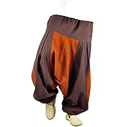 virblatt pantalones cagados de alta calidad corte suelto para hombres y mujeres como ropa hippie y pantalones bombachos estilo harem M - XL – Erde LXL