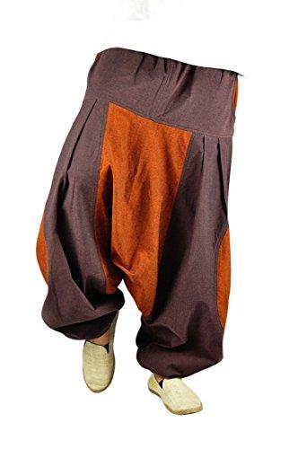 virblatt – Haremshose Herren Damen Aladinhose alternative Kleidung – Erde LXL