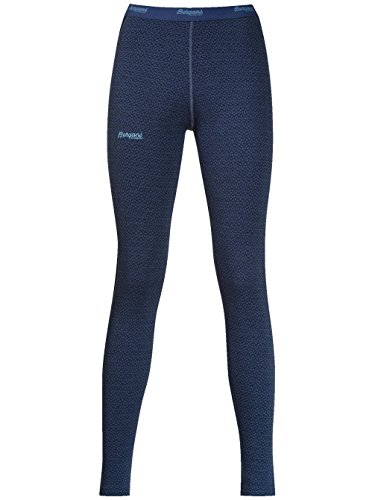 Bergans Snoull Lady Tights - 290er Merinowolle Thermounterwäsche dustyblue/navy/dustyltblu