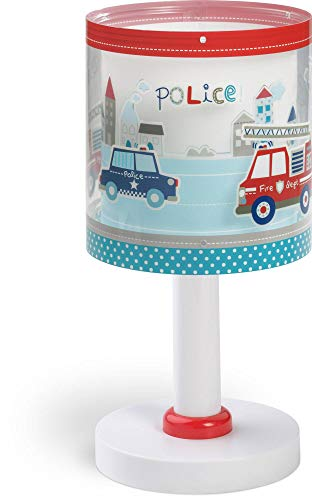 Dalber Police 60611 - Lámpara de sobremesaPolicías y bomberos, E14, Clase de eficiencia energética A++ a C