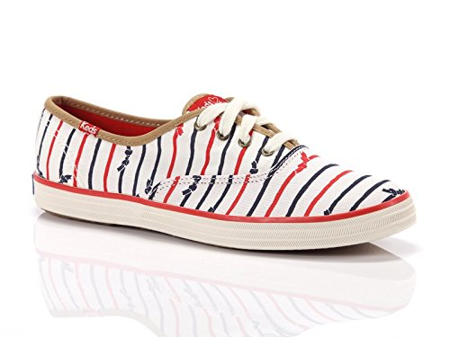Keds, Donna, Taylor Swift Champion Bow Stripe, Canvas, Sneakers, Bianco, 41 EU