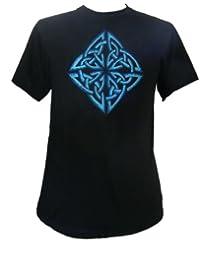 Brodé conception celtique T-shirt, coton, Fair Trade vendu par One World is Enough.