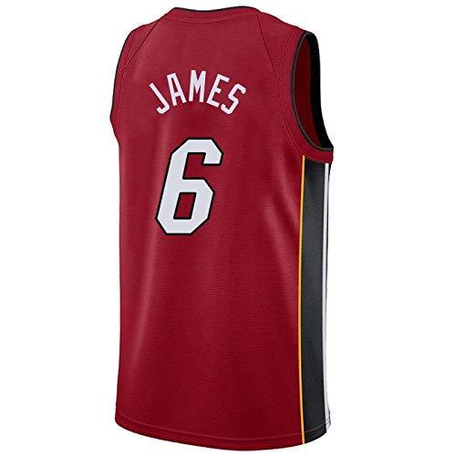 the latest 899be f98fe Men's Basketball Jerseys - NBA Miami Heat # 6 LeBron James Basketball Fan  Uniform Cool Breathable Fabric Vest T-shirt Jersey,S~165cm/50~65kg