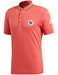 buy online eeffc ce14a adidas Polo Manches Courtes en Polyester Roland-Garros Homme - Corail