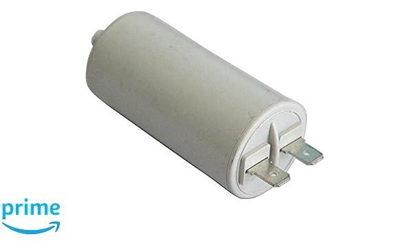 Aerzetix Kondensator st/ändigen Arbeitsprogramm f/ür Motor 12/µF 450V mit 6,3 mm Anschl/üssen
