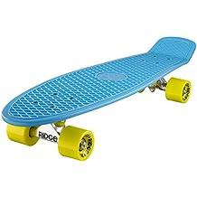 Ridge Big Brother Cruiser - Skateboard, color azul / amarillo, 69 cm
