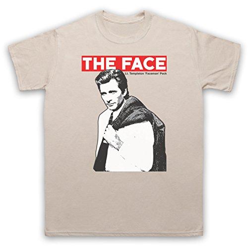 Inspiriert durch A Team Face LT Templeton Faceman Peck Unofficial Herren T-Shirt Beige