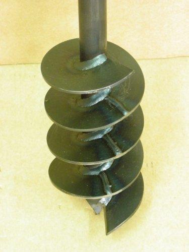 Erdbohrer Erdlochbohrer Brunnenbohrer Pfahlbohrer Handbohrer 120 mm Bohrkopf Bohrgerät f. Brunnen und Rammfilter